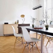 Table and chairs in modern dining room